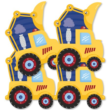 Construction Truck - Decorations DIY Baby Shower or Birthday Party Essentials - Set of 20 - Construction Birthday Party