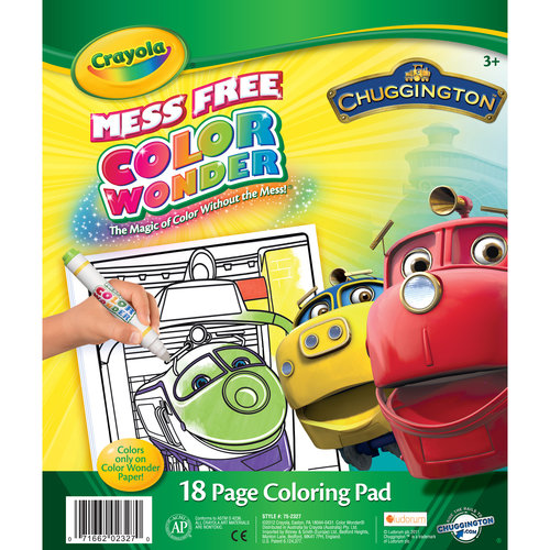 Crayola Chuggington Color Wonder 18-Page Coloring Pad