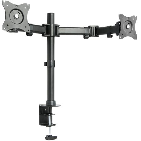 VIVO Dual Monitor Arms Fully Adjustable Desk Mount / Articulating Stand For 2 LCD Screens up to 27