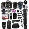 """Canon EOS 6D DSLR SLR Digital Camera + 6.5mm Fisheye + 24-105mm STM + 420-1600mm Lens + Filters + 128GB Memory + Stabilizer + i-TTL Autofocus Flash + Backpack + Case + More The Canon EOS 6D is a full-frame 20.2MP DSLR offering exceptionally high image quality and detail while providing compatibility and convenience through its design and features. When paired with the powerful DIGIC 5+ image processor and 14-bit A/D conversion, the full-frame sensor is capable of recording vivid imagery with expanded sensitivity up to ISO 102400.<br><br><b>What's in the box:</b><br><br>Canon EOS 6D DSLR Camera (Body Only)<br>Eyecup Eb<br>RF-3 Camera Cover<br>Wide Neck Strap EW-EOS 6D<br>LC-E6 Charger for LP-E6 Battery Pack<br>LP-E6 Rechargeable Lithium-Ion Battery Pack (7.2V, 1800mAh)<br>AVC-DC400ST Stereo AV Cable<br>IFC-200U USB Interface Cable - 6.9' (1.9 m)<br>EOS Digital Solution Disk<br>Camera Instruction Book<br>Software Instruction Book CD<br>Pocket Guide<br>Digital Learning Center Leaflet<br>1-Year Limited Warranty<br><br><b>47th Street Photo Accessories:</b><br><br>Opteka 6.5mm f/3.5 HD Aspherical Fisheye Lens with Hood<br>Canon EF 24-105mm f/3.5-5.6 IS STM Lens<br>Opteka 420-800mm HD Telephoto Zoom Lens<br>Opteka High Definition 2X Telephoto Converter<br>Professional 3 Piece Filter Kit (UV-CPL-FLD)<br>Deluxe Digital Camera Padded Carrying Case (Large)<br>64GB High Speed Class 10 Memory Card (2)<br>Memory Card Wallet<br>Opteka NS-7 Tripod Mounted Swivel Camera Neck Strap<br>Photomate Dual Lens Holder/Flipper<br>High Speed SD/SDHC/Micro SD Reader/Writer<br>Opteka Wireless Shutter Remote Control<br>Opteka X-GRIP Professional Action Stabilizing Handle<br>Opteka IF-980 Professional I-TTL Flash<br>Professional Sling SLR Backpack<br>Opteka 67"""" MP100 Aluminum Monopod<br>Opteka OPT7000 70-inch Professional Tripod<br>Small Mini Tabletop Tripod<br>Lens Cleaning Kit<br>$50 Promo Code for Digital Photo Prints<br>47th Street Cleaning Cloth<br>"""
