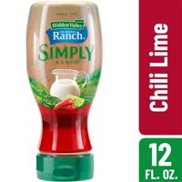 Hidden Valley Simply Ranch Chili Lime Salad Dressing & Topping, Gluten Free - 12 Ounce Bottle