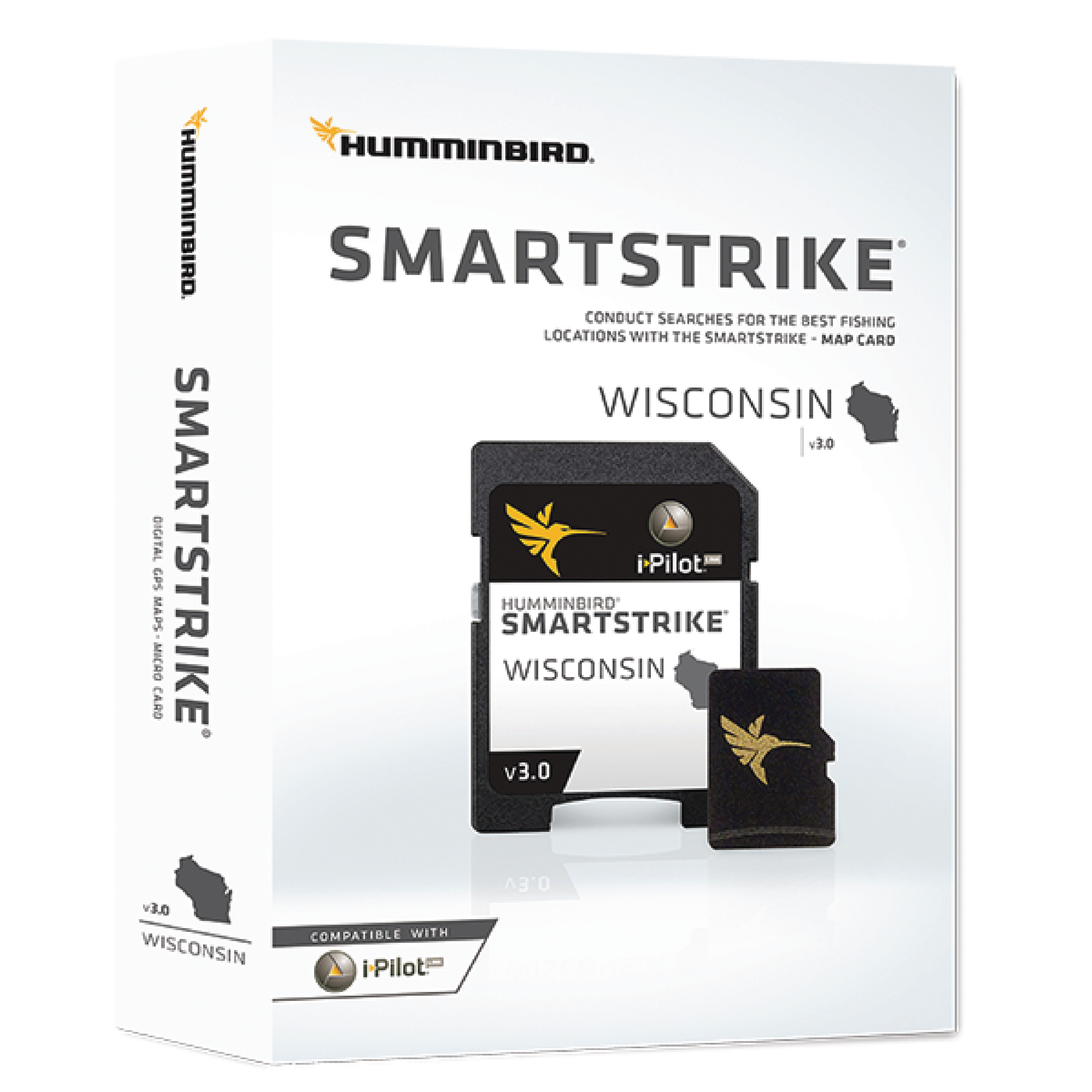 Humminbird 600041-3 Smartstrike Version 3.0 Digital Fishing Map Card for Wisconsin