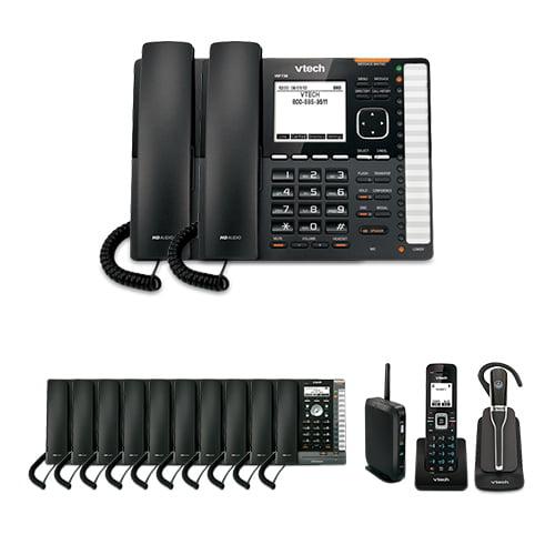 VTech VSP736 (2 Pack) plus VSP726 (10 Pack) plus VSP600 plus VSP505 ErisTerminal DECT SIP Deskset by VTech
