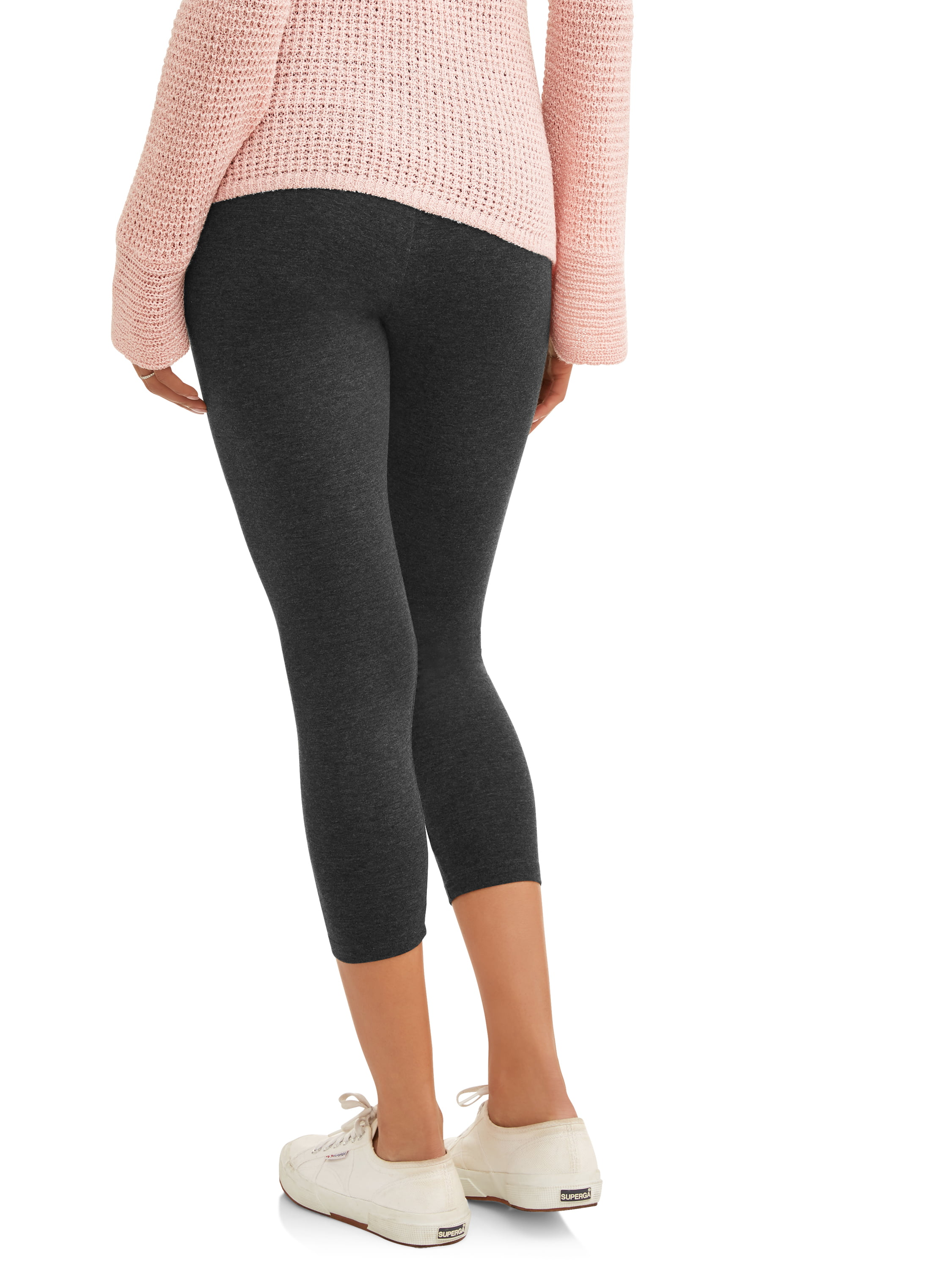d7899e19a3af11 Oh! Mamma - Maternity Full-Panel Capri Leggings-- Available in Plus Size -  Walmart.com
