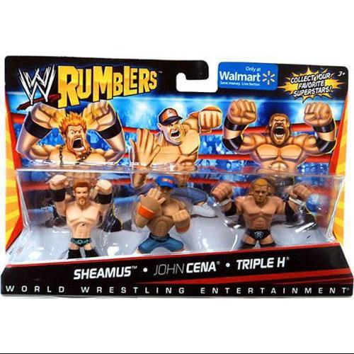 WWE Wrestling Rumblers Series 1 Sheamus, John Cena & Trip...