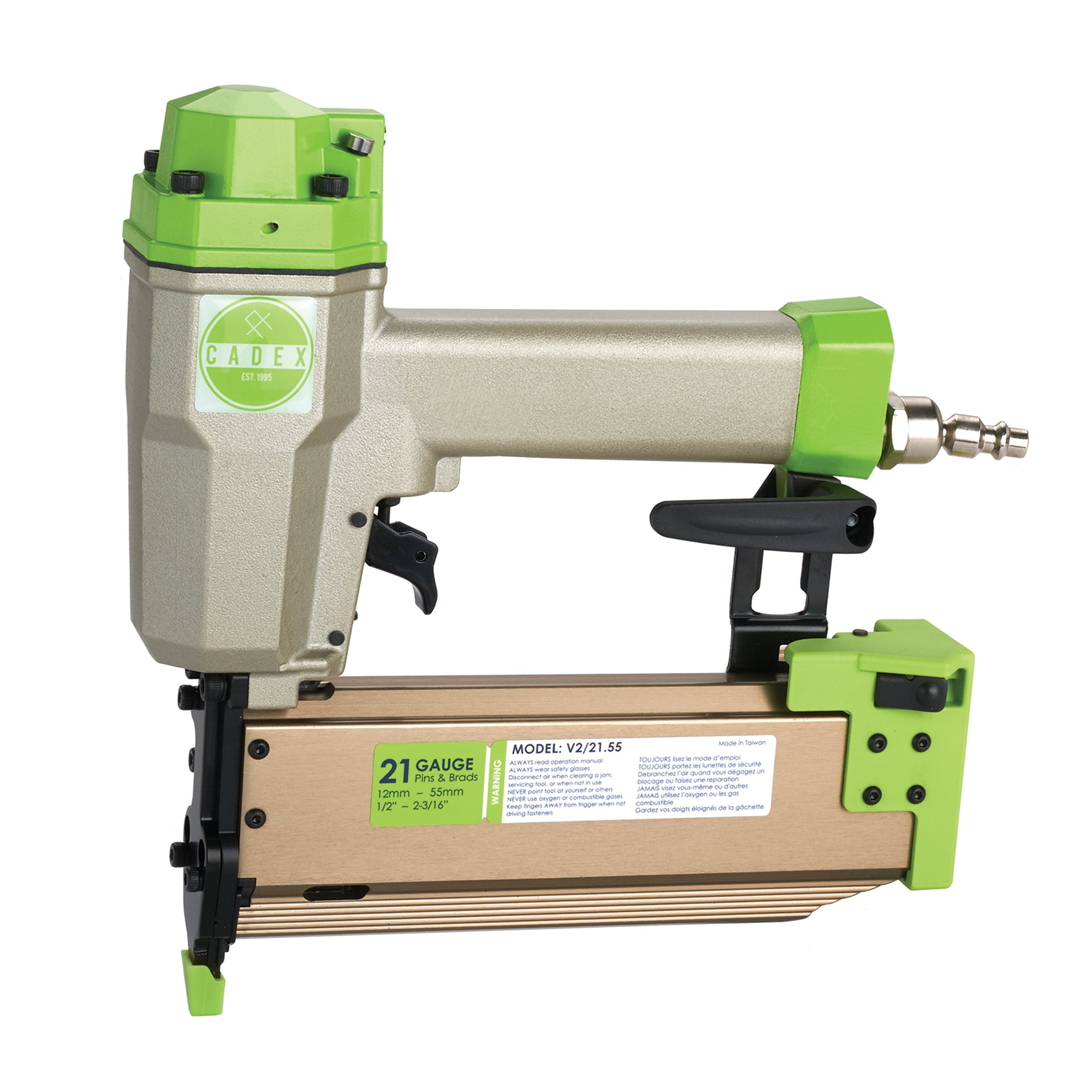"Cadex 21 Gauge, 2-3 16"" Combination Pinner Brad Nailer with Systainer Case by Direct Sales LTD"
