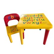 Kids Table And Chair Set Lightweight Activity Table Set for Toddlers Lego, Reading, Train, Art Play-Room Indoor or Outdoor Children Play Toy Furniture