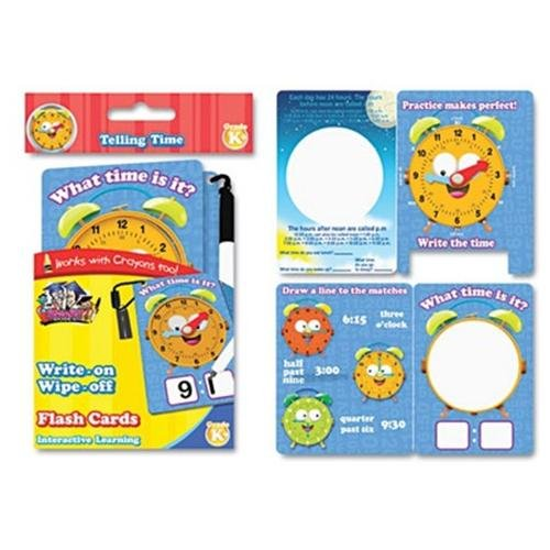 The Board Dudes Board Dudes Telling Time Flash Cards - Educational (99117ua24)