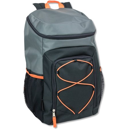 20 Inch Deluxe Bungee Backpack With Orange Accent Colors