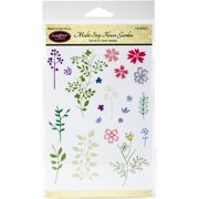 "Multi-Step Flower Garden - JustRite Papercraft Clear Stamps 4""X6"""