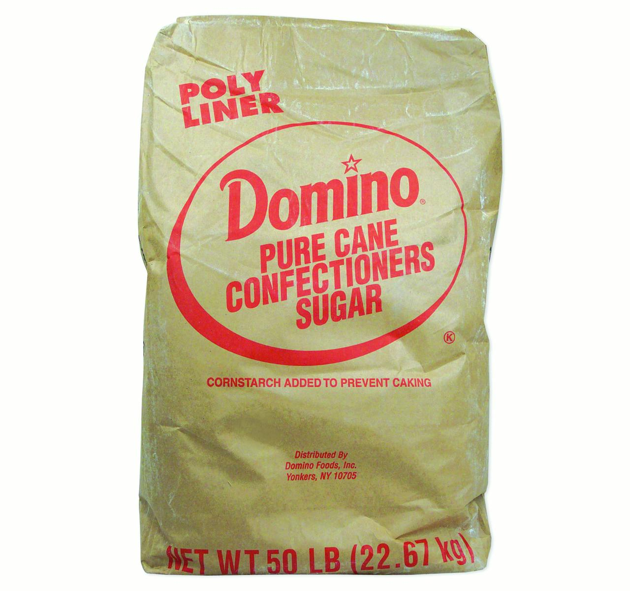 Domino 10X Pure Cane Confectioners Sugar 50 lb. Bag