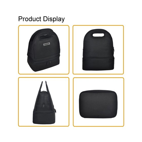 6faed1888934 MIER Dual Compartment Insulated Lunch Box Bag Reusable Cooler Bag for Men,  Wo...