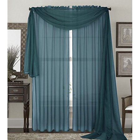 Qutain Linen Solid Viole Sheer Curtain Window Panel Drapes Set Of Two 2 55 X 84 Inch Slate