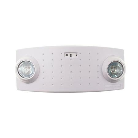 Philips McPhilben CAX6 Semi-Recessed Emergency Light, 2 Light, 120/277V, White