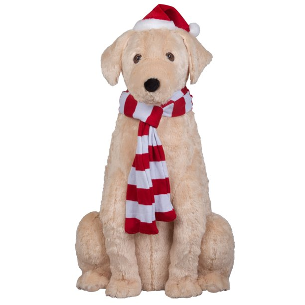 Holiday Time Life Size Animated Golden Retriever Christmas