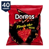 Doritos Flamin' Hot Nacho Tortilla Chips Snack Pack, 1 oz Bags, 40 Count