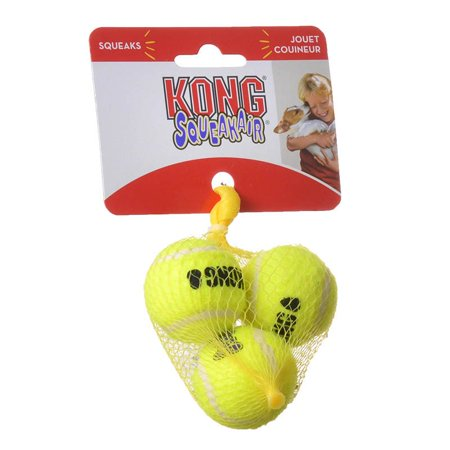 - Kong Air Kong Squeakers Tennis Balls X-Small - 1.5 Diameter (3 Pack) - Pack of 2