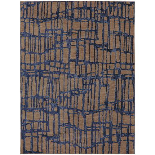 Karastan Enigma Twilight Brown Blue Area Rug by Mohwak Home