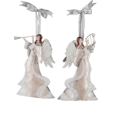 Winter White Angel Christmas Xmas Ornament A/2