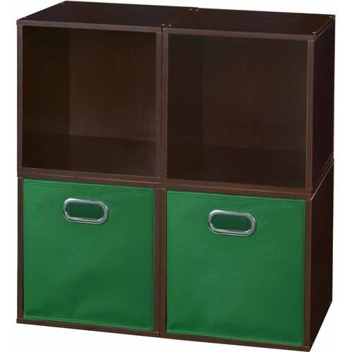 Regency Niche Cubo Storage Set of 4 Cubes, Truffle and 2 Canvas Bins, Multiple Colors