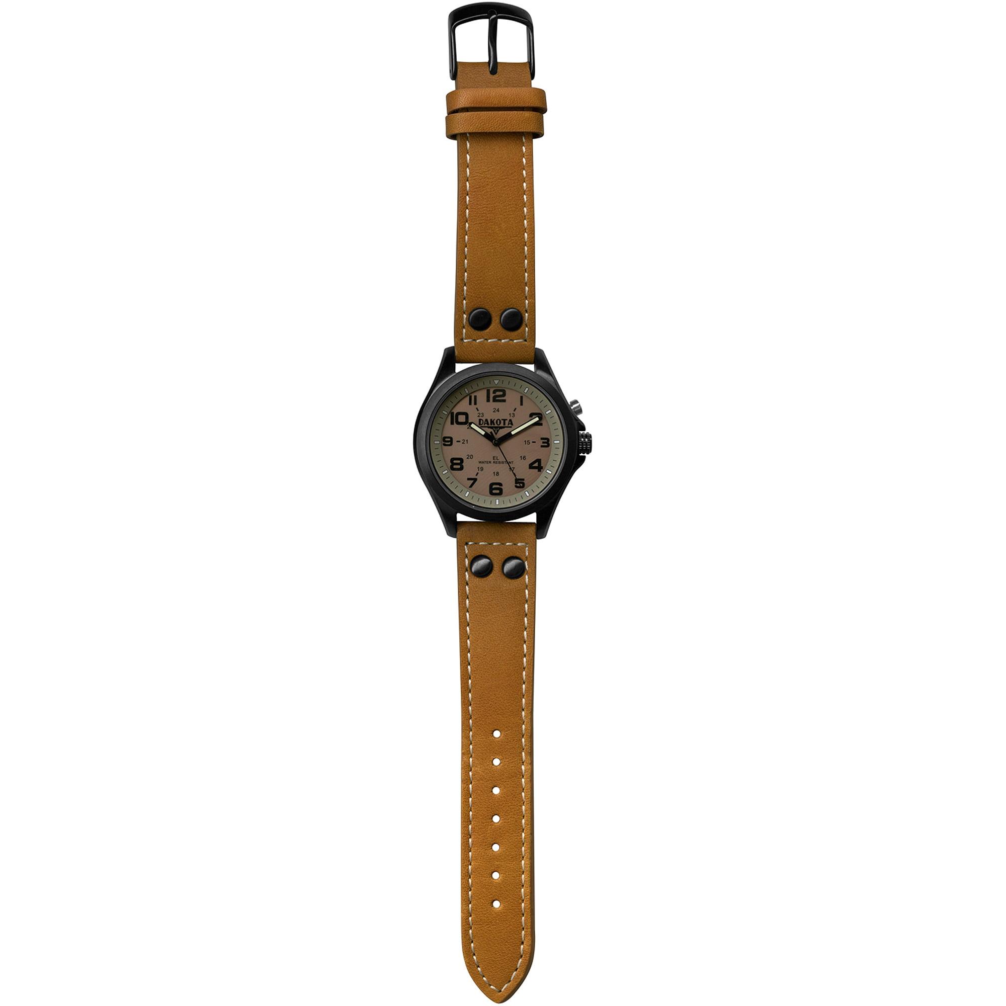 Dakota Watch Company Khaki/Brown Stealth EL Watch