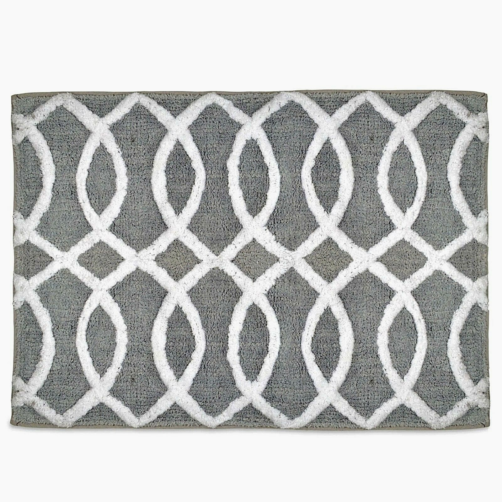 Picture of: New Style Lounge Gray White Patterned 20 X 30 Huntley Bath Rug 11290rgy Walmart Com Walmart Com