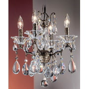 Garden of Versailles Mini-Chandelier Light in Bronze Finish (Crystalique)