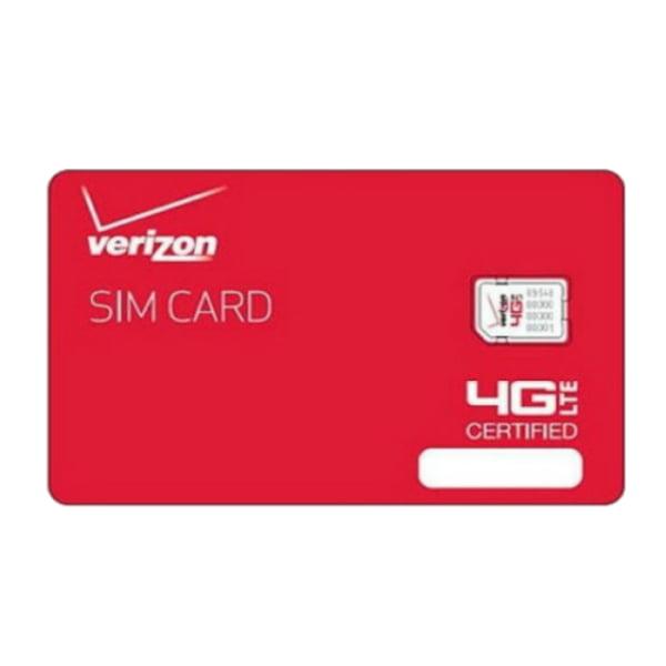 Verizon Wireless NFC Nano 4G LTE Certified 4FF SIM Card