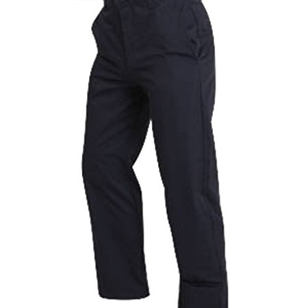 Blue Stretch Pants - Men's Regular Flat Front Navy Twill Pants with Soil Release, 65% Polyester 35% Cotton