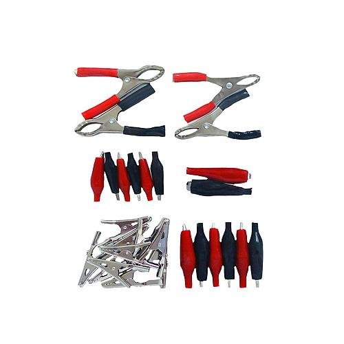 Grip 37128 28-Piece Electrical Clip Kit with Alligator and Charging Clips