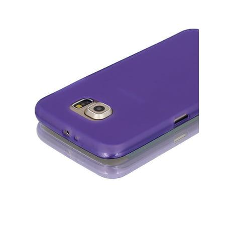 Purple Back Case Cover Protector w Protective Film Wiper for S6/G925 - image 4 de 7