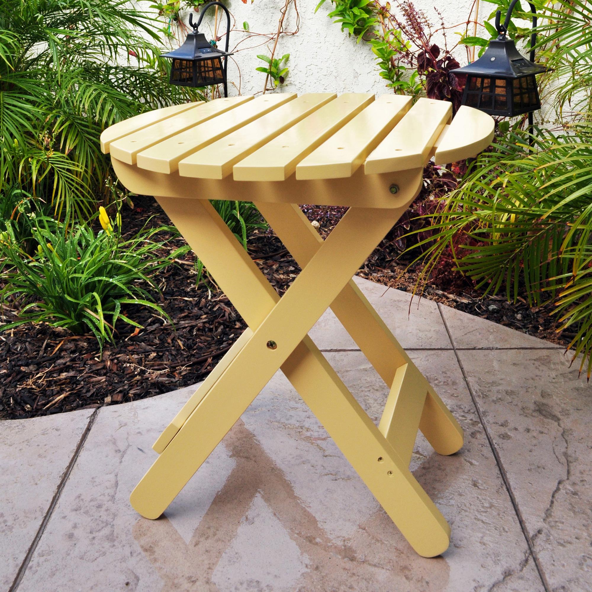 Shine Company Adirondack Round Folding Table - Bee's Wax
