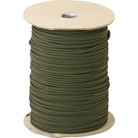 Parachute Cords 102S OD Green Nylon Construction 1,000 ft. Length Parachute Cord Multi-Colored