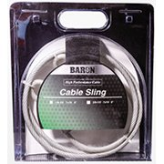 BARON 0 8505/50580 Cable Sling, 3/8 to 1/2 in Dia, 9 ft L, Galvanized Steel