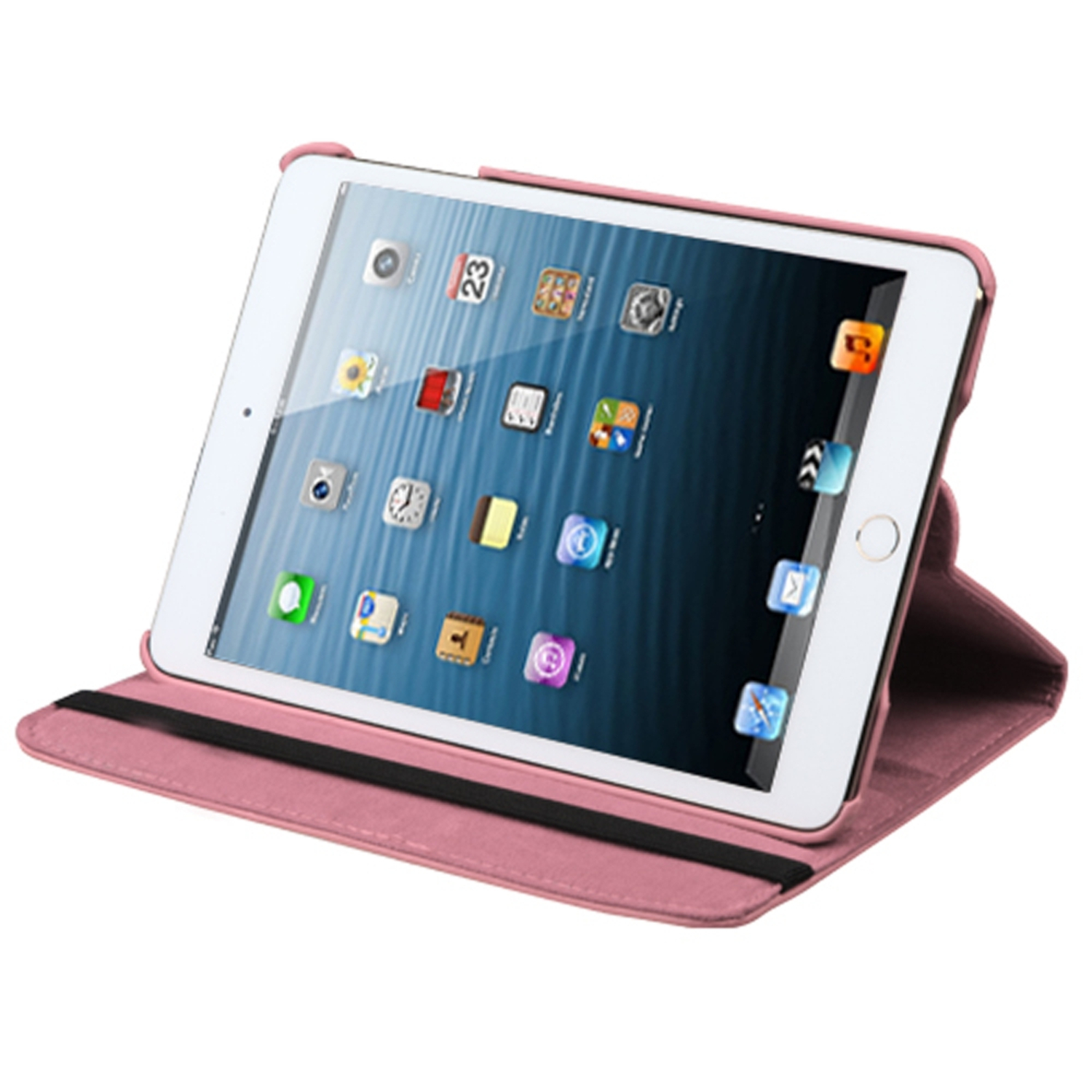 Insten Multi-Viewing Leather Stand Cover Case For iPad Mini 3 2 1 - Pink