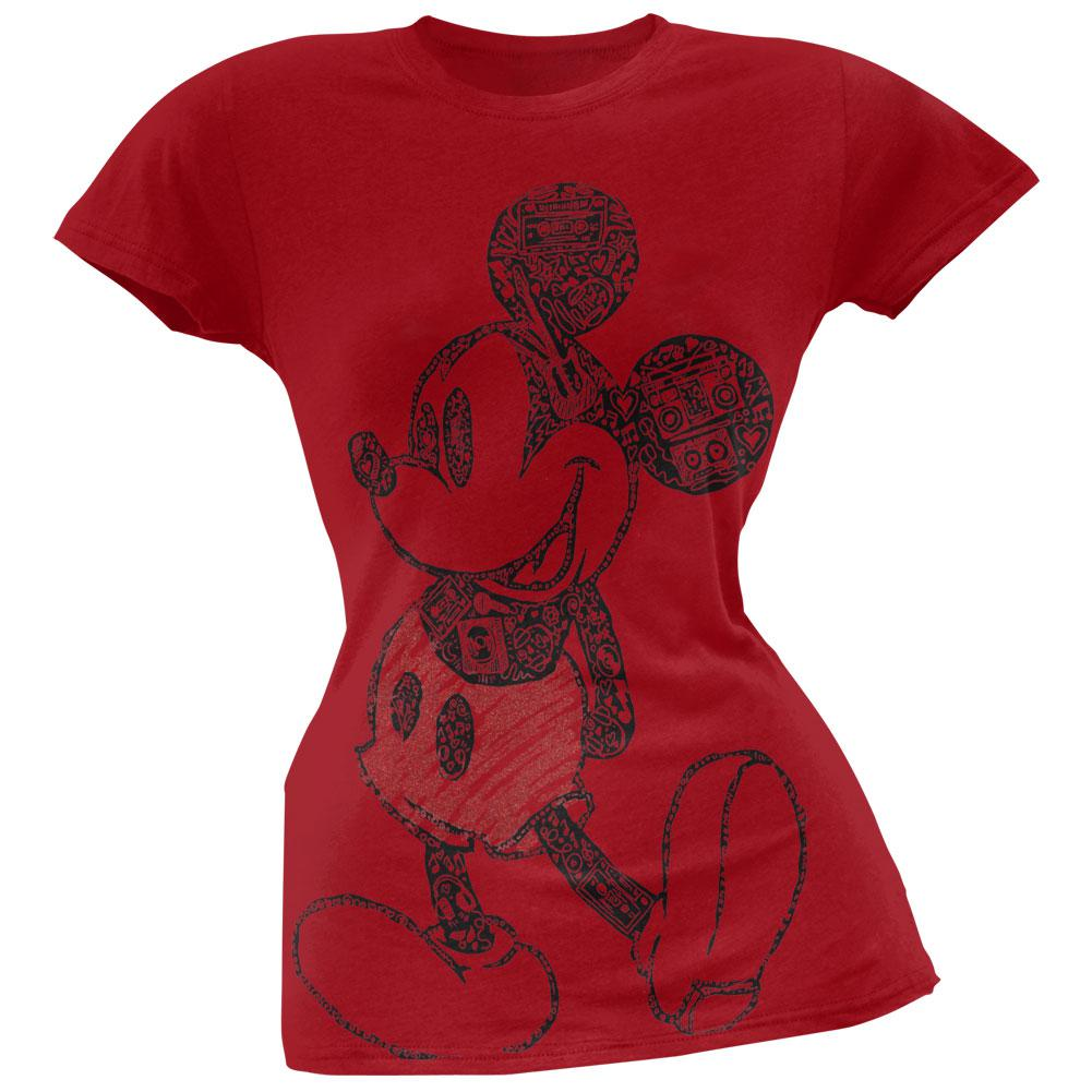 Mickey Mouse - Rock And Roll Mickey Juniors T-Shirt - X-Large