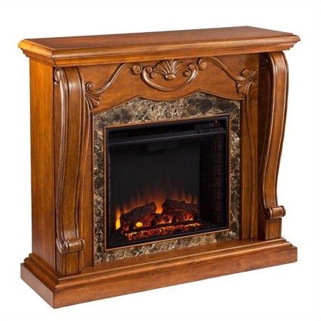 Southern Enterprises Cardona Electric Fireplace in Walnut - image 12 de 13