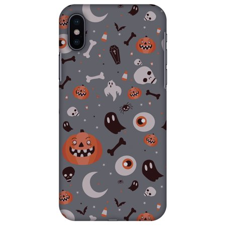 iPhone X Designer Case, Premium Halloween Handcrafted Printed Designer Hard ShockProof Case Back Cover for Apple iPhone X - Freaky Grey, Thin, Light Weight, HD Colour, Smooth Finish](Halloween Wallpapers For Iphone 4)