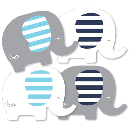 Blue Elephant - Decorations DIY Boy Baby Shower or Birthday Party Essentials - Set of 20