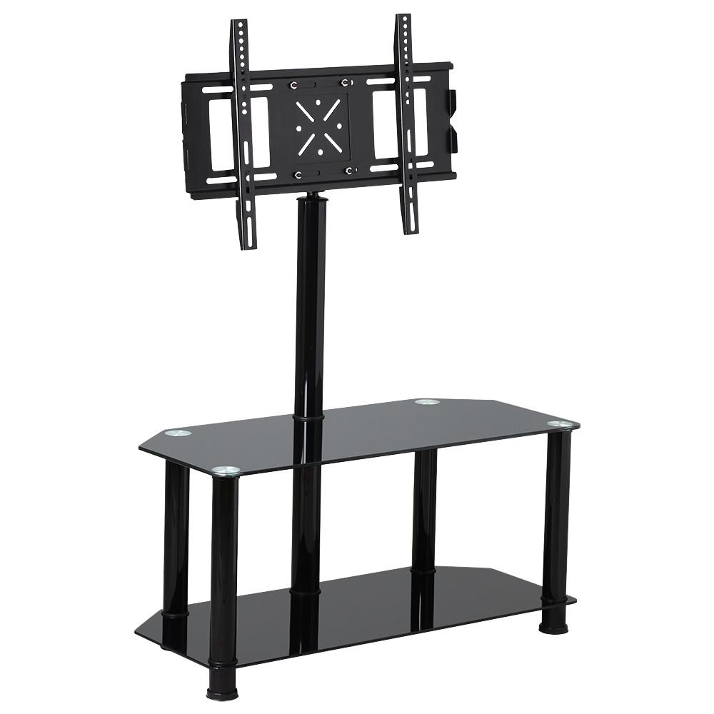 Yaheetech Tv Stand With Bracket Mount And Glass Shelves For Plasma