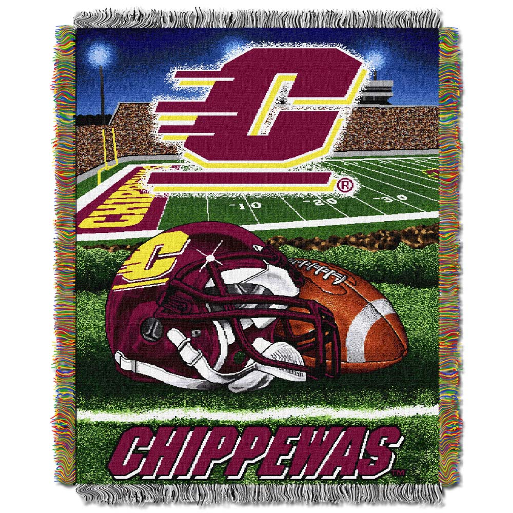 Central Michigan Woven Tapestry Blanket