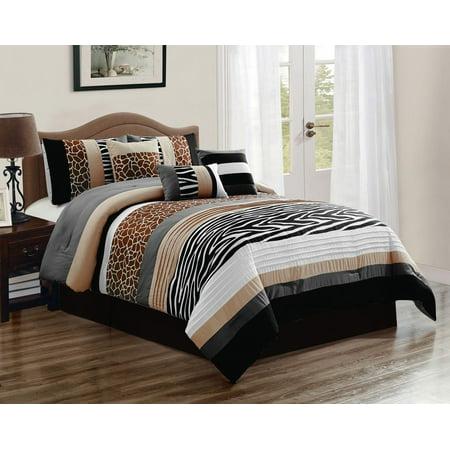 11 Piece Nolan Safari Bed in a Bag w/500TC Cotton Sheet Set