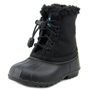 Native Jimmy Winter Toddler  Round Toe Canvas Black Winter Boot