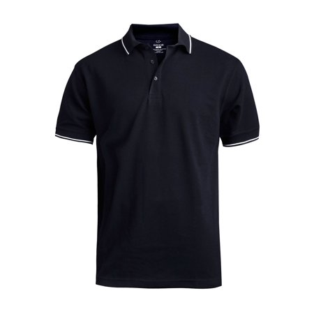 Ed Garments Men's Big And Tall Soft Touch Blended Polo Shirt, NAVY, 3XL (Navy Blue Polo Hoodie)