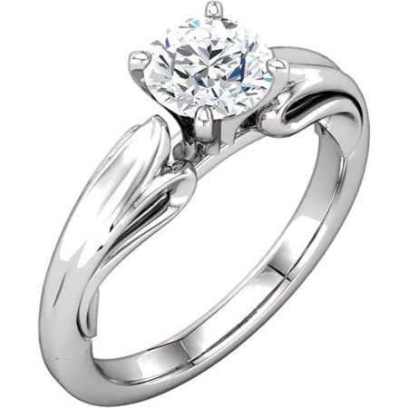 Harry Chad Enterprises HC11304-6 1.51 CT Round Brilliant Diamond Solitaire Ring Prong Setting - 14K White Gold - Size 6 Brilliant Diamond Setting 4 Prong
