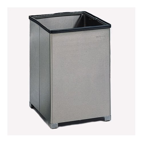 Rubbermaid Commercial Products 14-Gal Small Open Top Stainless Steel Receptacle (Set of 5)