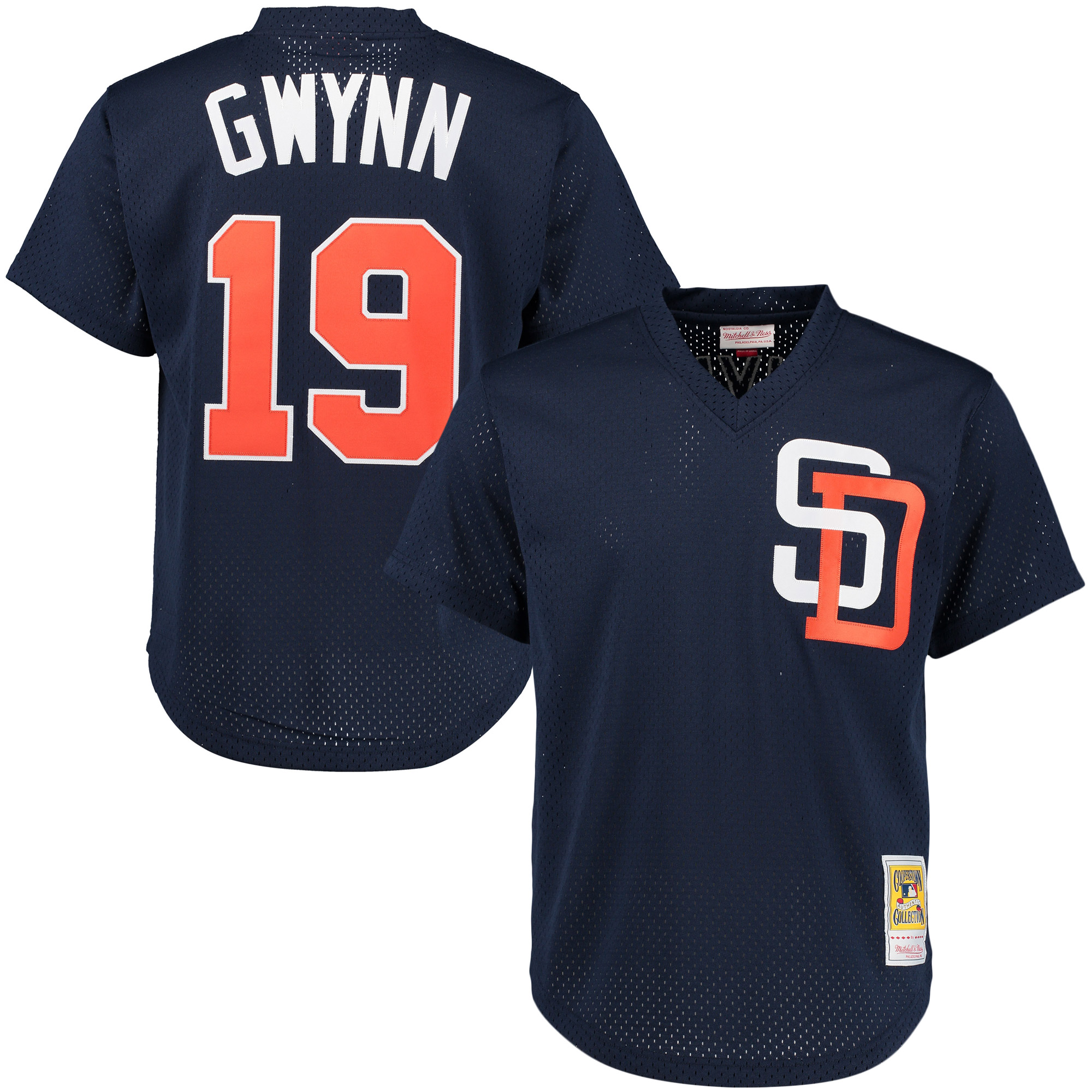 Tony Gwynn San Diego Padres Mitchell & Ness Cooperstown Mesh Batting Practice Jersey - Navy