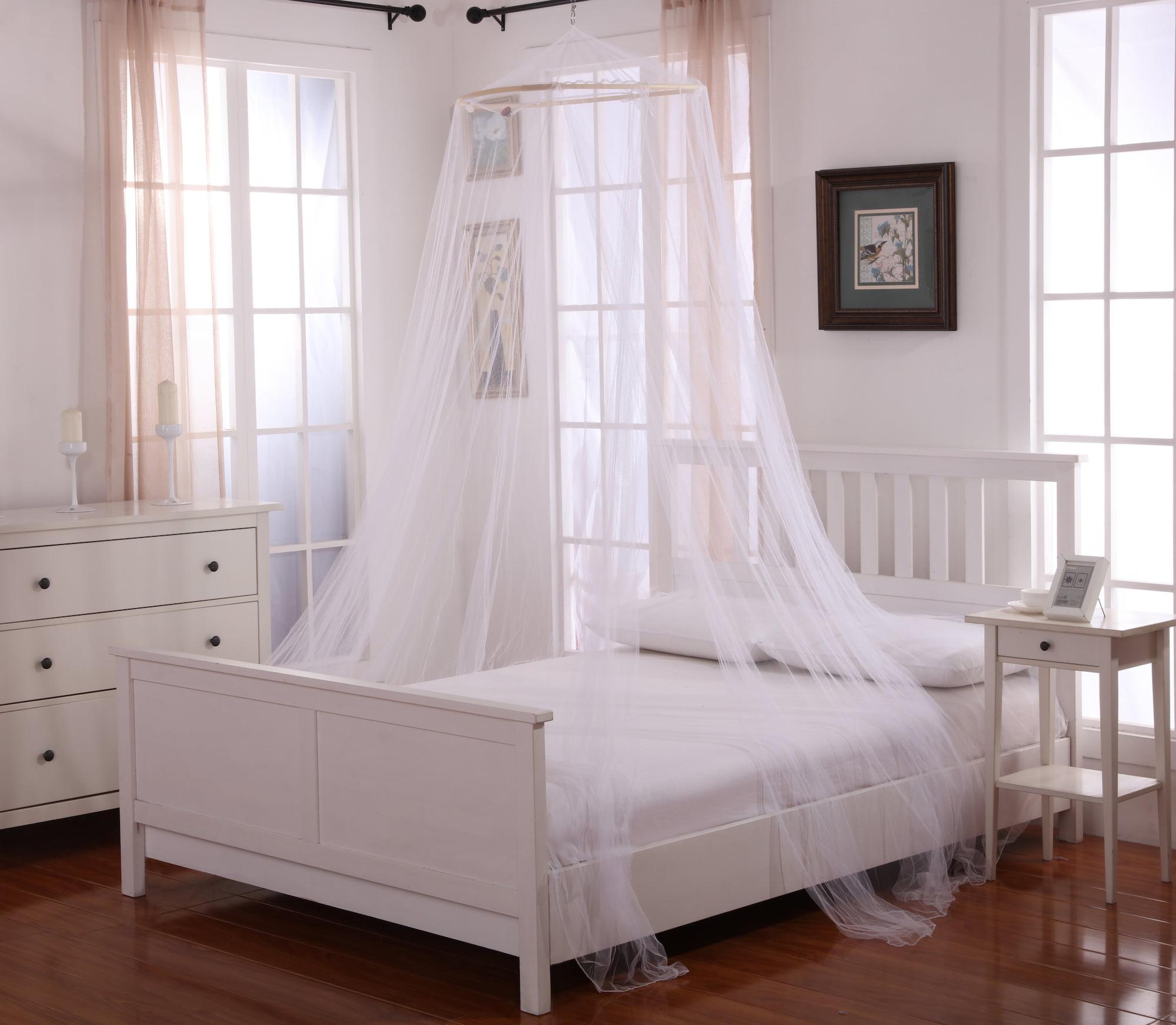 Oasis Round Hoop Polyester Sheer Mosquito Netting Bed Canopy Walmart Com Walmart Com