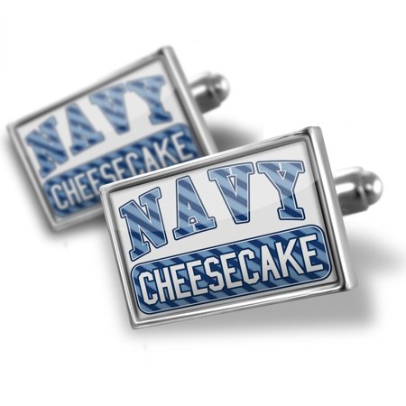 Cufflinks Navy Cheesecake  Blue Stripes   Neonblond