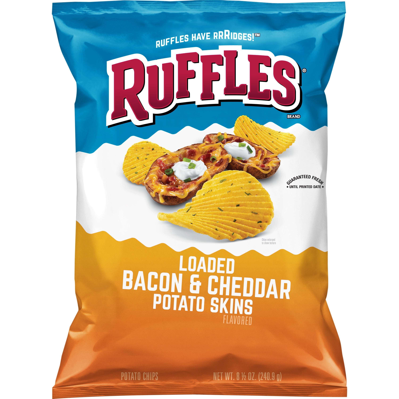 Ruffles Loaded Bacon & Cheddar Potato Skins Potato Chips, 8.5 oz Bag by Frito-Lay, Inc.